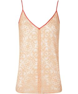 Emannuelle Junqueira | V-Neck Lace Tank Top