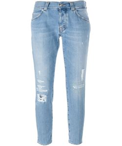 +People | Distressed Cropped Jeans