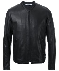 Hl Heddie Lovu | Thin Collar Leather Jacket Men Small
