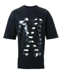 Cy Choi   Striped Bone Print T-Shirt