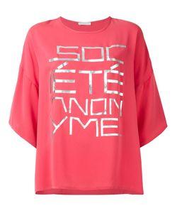 Société Anonyme | Oversized Front Print T-Shirt