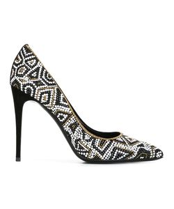 Salvatore Ferragamo | Patterned Court Shoes 6 Leather/Metal Other