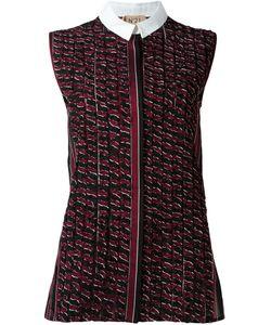 No21   Sleeveless Ruffled Shirt