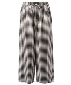 Digawel | Wide Gingham Trousers