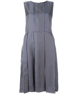 'S Max Mara | Square Print Pleated Dress 40