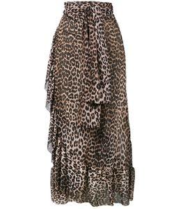 Ganni | Peirce Mesh Leopard Print Skirt Women