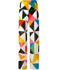 Ingie Paris   Geometric Print Velvet Trousers