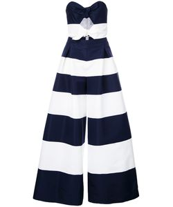 Carolina Herrera | Strapless Striped Jumpsuit Size
