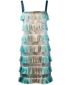 Alberta Ferretti | Tiered Fringe Dress Size