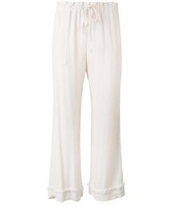 Raquel Allegra | Crepe Drawstring Waist Cropped Pants Size 2