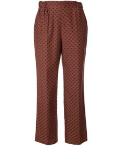Muveil | Lips Print Straight Trousers 36 Cotton/Cupro