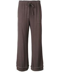 Raquel Allegra | Crepe Drawstring Cropped Pants