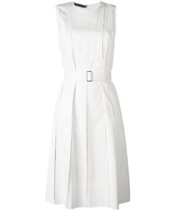Calvin Klein Collection   Belted Pleated Dress