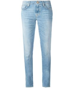 7 For All Mankind | Stonewashed Skinny Jeans Size 28