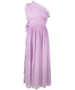 Rochas | Pleated Ruffle One-Shoulder Dress