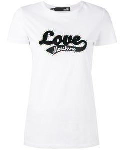 Love Moschino   Logo Print T-Shirt Size 38