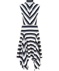Derek Lam 10 Crosby | Deep V-Neck Asymmetric Dress