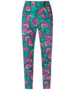 Isolda | Abstract Print Skinny Trousers Size 46