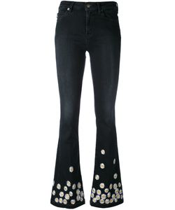Love Moschino | Daisy Embroidered Flared Jeans