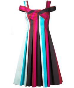 Paule Ka | Pleated Striped Dress