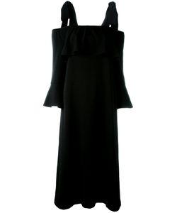 Ganni   Cold Shoulder Fluted Sleeve Dress