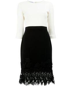 Oscar de la Renta | Lace Hem Monochrome Dress Size