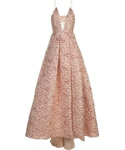 Alex Perry   Strapless Jacquard Gown Women