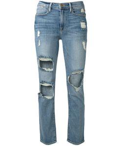 Frame Denim | Cropped Distressed Jeans