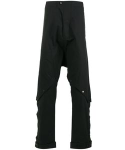 Barbara I Gongini | Buttoned Knees Drop-Crotch Trousers 46