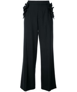 Muveil | Ruffled Detailing Fla Trousers 36 Polyester/Wool/Rayon/Polyurethane