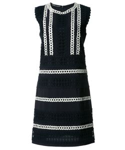 Alberta Ferretti | Crochet Trim Shift Dress Size 44