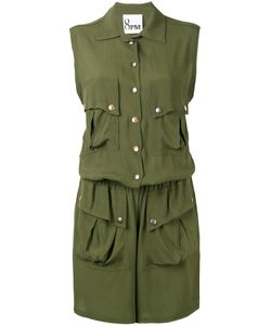8pm   Button Up Playsuit Xs