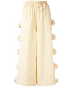 Ports | 1961 Embellished Roses Cropped Trousers Size
