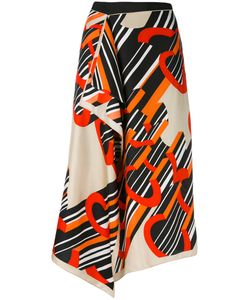 Carven | Printed Wrap Skirt 36