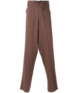 Andrea Pompilio | Belted Striped Trousers Size 44