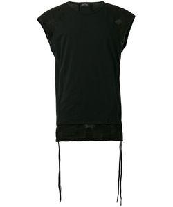 Andrea Ya'aqov | Linen-Trimmed Muscle Tank Top Size Medium