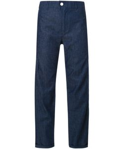 Julien David | Cropped Chambray Trousers