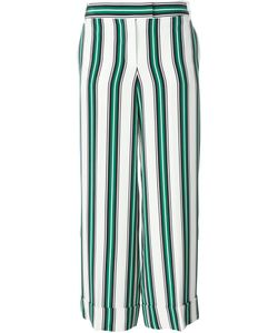 Salvatore Ferragamo | Striped Wide Leg Trousers