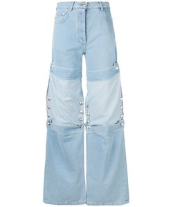 Y / Project | Buttoned Patch Jeans