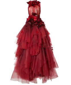 Marchesa | Flower Petal Embellished Dress 8