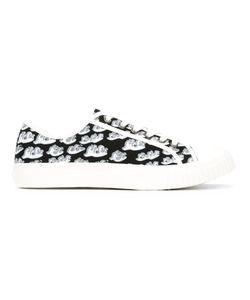 Julien David | Printed Lace Up Trainers Size 40