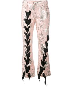 MARQUES'ALMEIDA | Lace-Up Jacquard Trousers