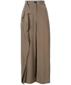 Isabel Benenato | Ruffled Detail Straight Trousers 42