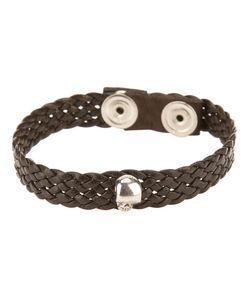 Very Gavello | Flat Weave Skull Bracelet