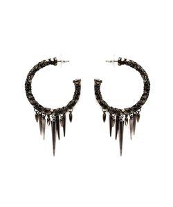 Michael Schmidt | Mesh Spike Hoop Earrings