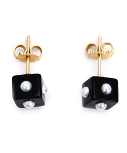 Nektar De Stagni | Onyx Cube Earrings