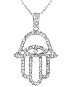 V Jewellery | Mythos Hamsa Pendant Necklace