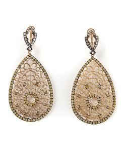 Loree Rodkin | Filigree Diamond Tear Drop Earrings