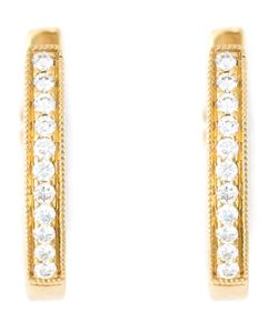 Wouters & Hendrix Gold   Diamond Hoop Earrings