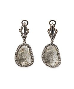 Loree Rodkin | Sliced Diamond Drop Earrings